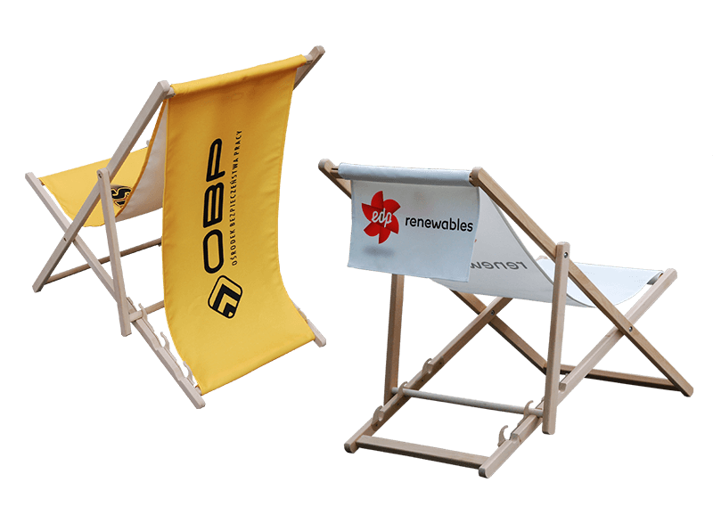 Promotional Deckchairs with print