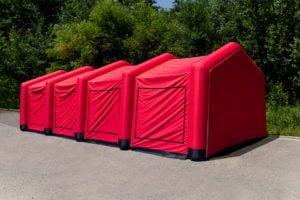 Namiot strażacki